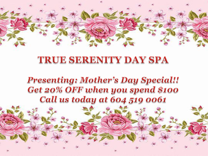 Spa Procedures Mothers Day Special